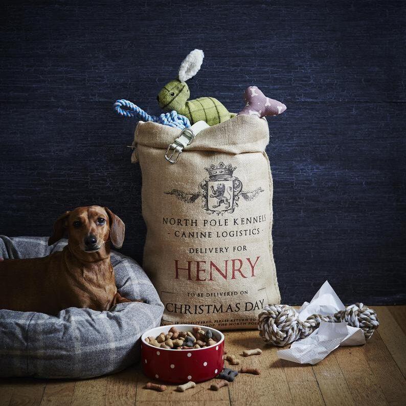 HandmadeChristmasCo - Personalised Dog Stocking